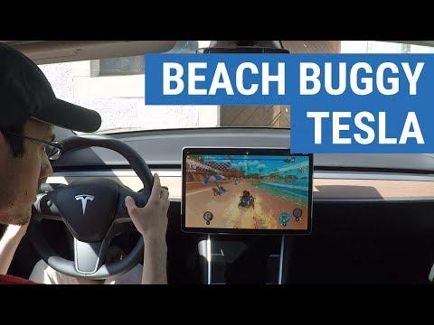 Démo Du Jeu Beach Buggy Sur Tesla