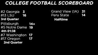 College Football Scoreboard for Week 7