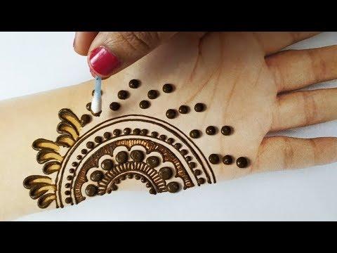 बहुत आसान गोल टिक्की मेहँदी लगाना सीखे - झट से गोलटिक्की, इयरबड से मेहंदी लगाए | Earbud Mehndi Trick