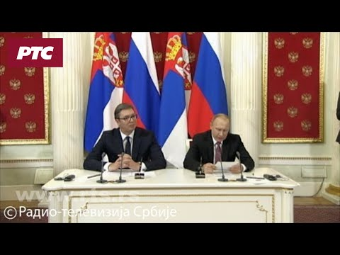 Konferencija za medije predsednika Vučića i Putina