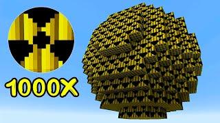Взрыв 1000 Атомных Бомб В Майнкрафт...