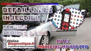 ⚠️DÉFAILLANCE INJECTION⚠️ Renault Scénic 2 1.9 dci (AUTEL MAXI DIAG MD808 PRO)