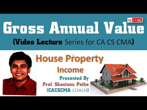 House Property Income : Gross Annual Value - GAV - Income Tax Act 1961 (for CA IPCC CS Executive)