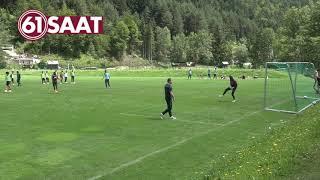 Trabzonsporlu oyunculardan şut bombardımanı...