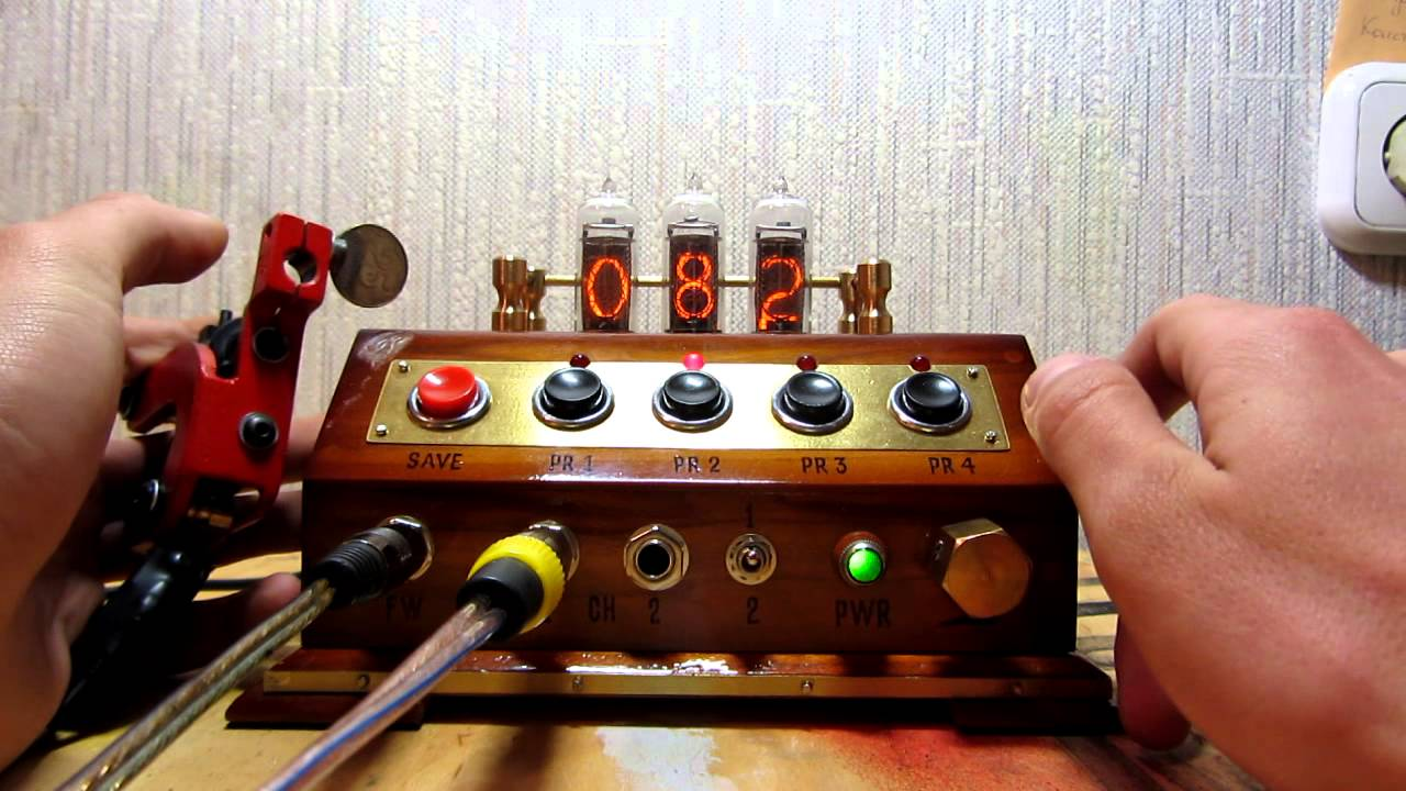 Tattoo Power Supply With Nixie Tubes