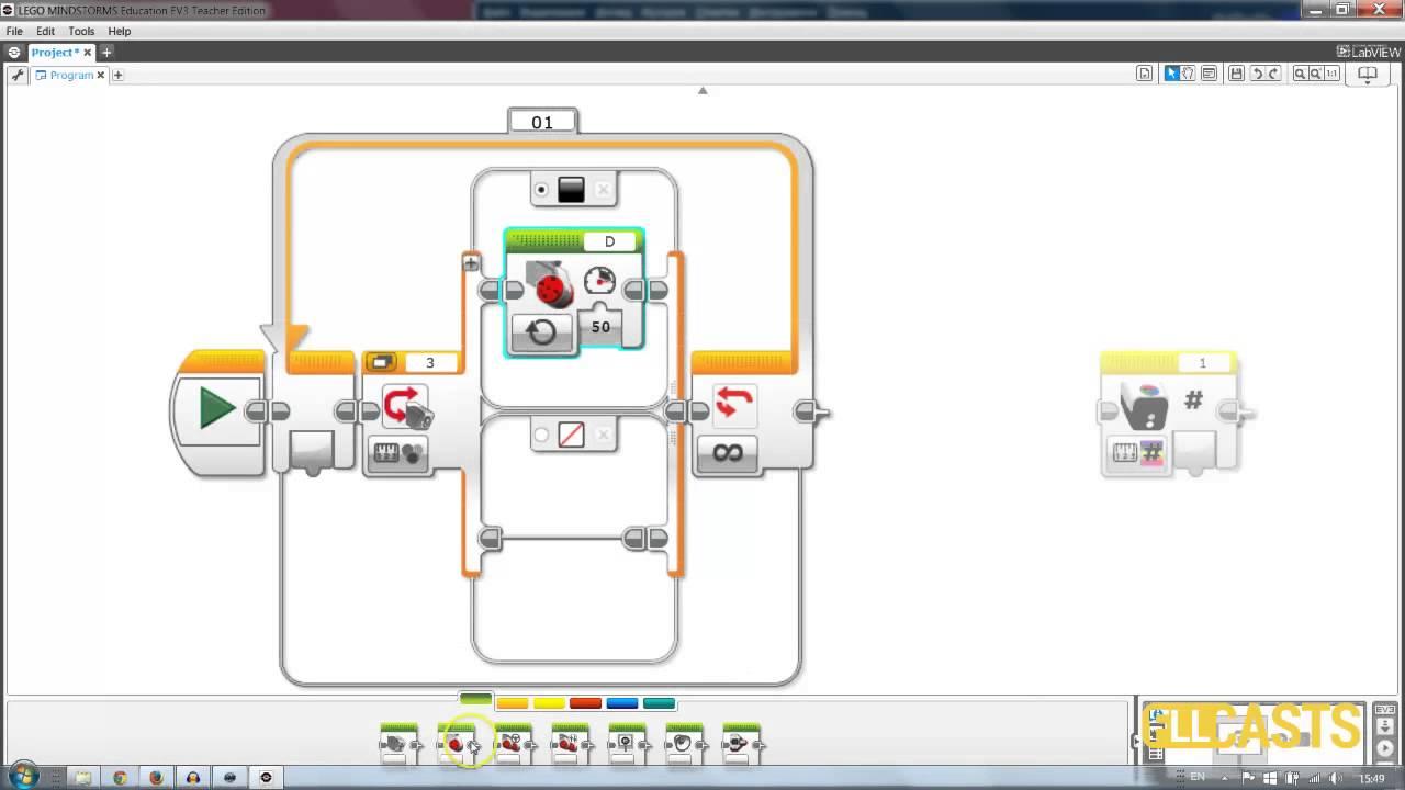 how to use hi technic color sensor in ev3 software