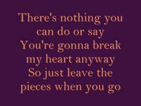 Leave The Pieces lyrics-The Wreckers