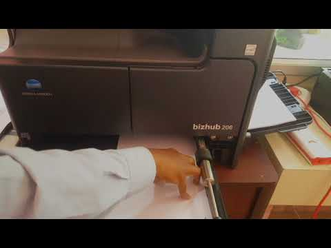 How to use KONICA MINOLTA bizhub 206 XEROX OR PHOTOCOPIER -  PART 1