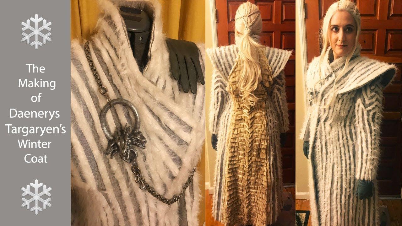 Making Daenerys Targaryen White Winter Coat Costume Youtube