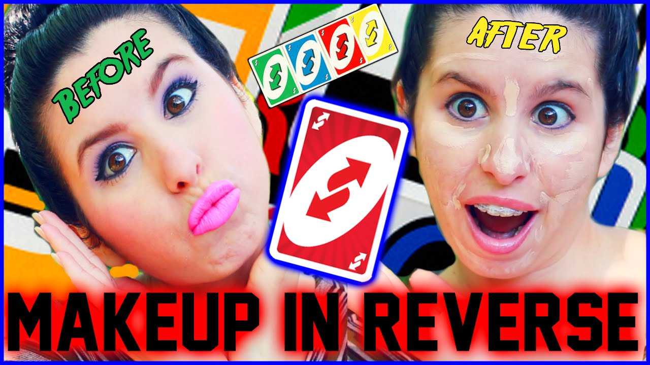 Makeup Tutorial in Reverse!? | How To ERASE Your Face ...