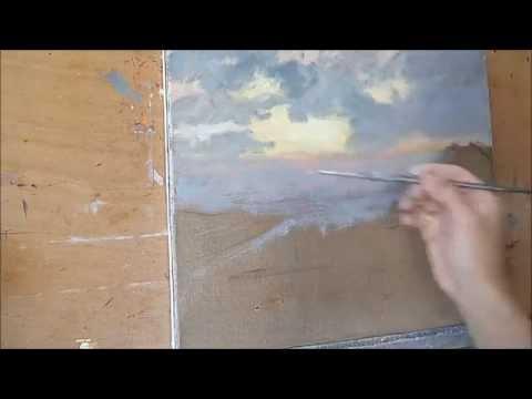 dupont thierry d monstration paysage peinture l 39 huile youtube