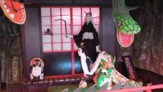弘前公園内にある青森県護国神社。大鳥居の横にあったオバケ屋敷の外観...