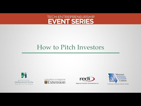 How to Pitch Investors