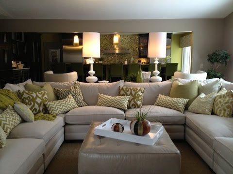 cream colored sofa pillows leather sofas katy tx u shaped sectional - youtube