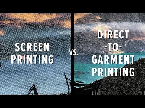 dtg printing vs screen printing dtg print on demand