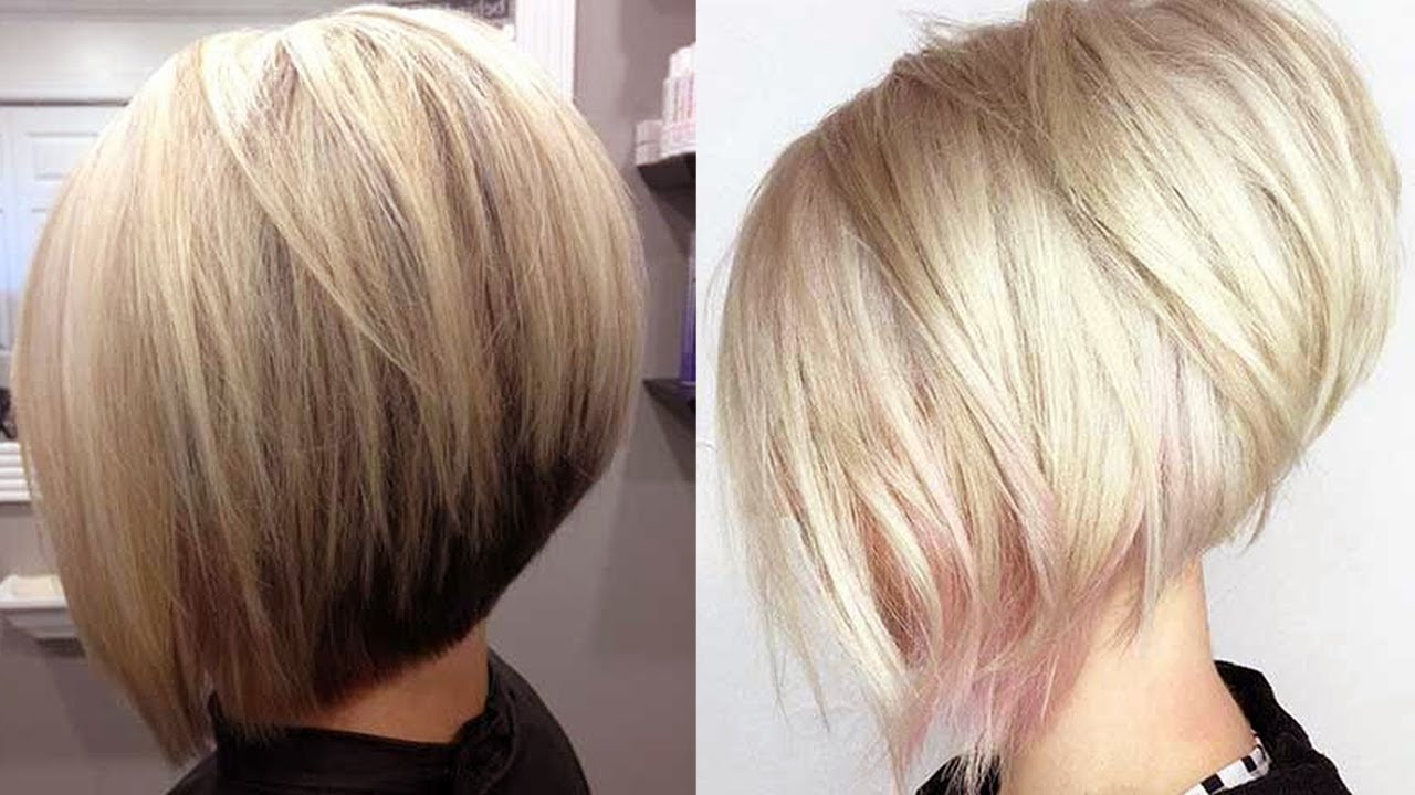 trending short stacked bob