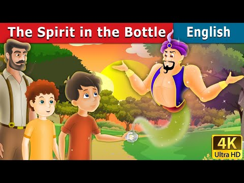 The Spirit in the Bottle Story in English | Bedtime Stories | 4K UHD | English Fairy Tales