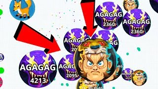 Agar.io Solo vs Team Take Over Pro Dominating Agar.io Mobile Gameplay