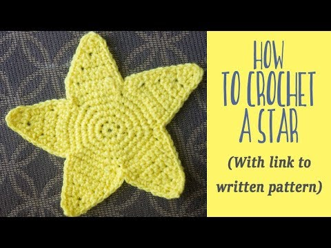 Crochet Star Free Pattern And Tutorial With Link To Written Pattern