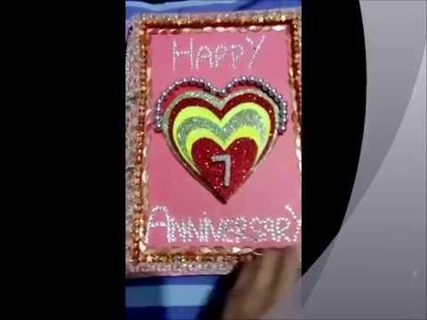 Silver wedding anniversary card with heart couple youtube