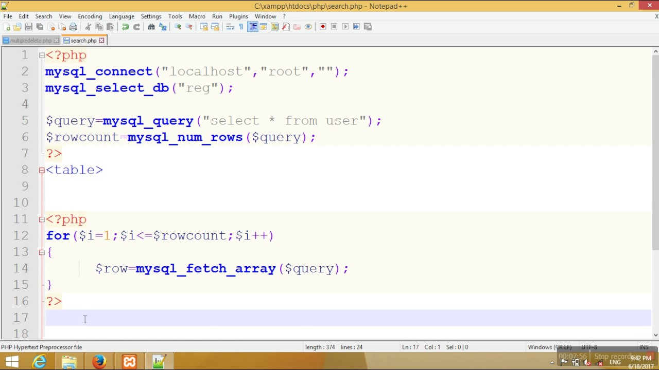 Php tutorial for beginners 29 # creating first mysql database with.