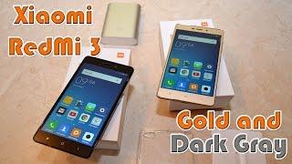 Xiaomi Redmi 3 розпакування і перші враження про смарфона (Fashion Gold і Dark gray)
