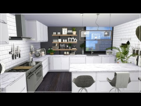 The Sims 4| Apartment Build | Monochrome Rooftop Apartment