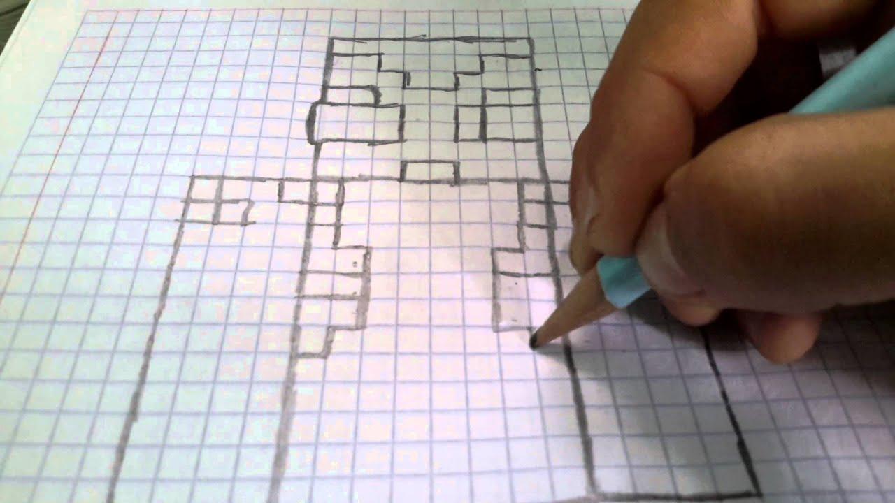 Como dibujar a vegetta777 en cuadrícula/parte 1 - YouTube