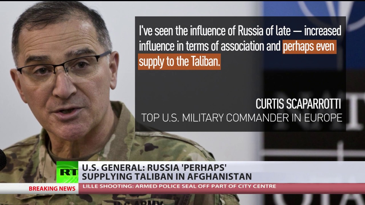 US General accuses Russia of supplying Taliban while presenting 'no facts, no numbers, no documents'