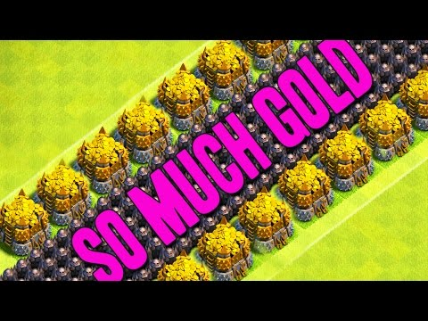 Clash of Clans  ::  MILLIONS!! MAXING TH9 DEFENSES AND FARMING :: SO MUCH GOLD!!
