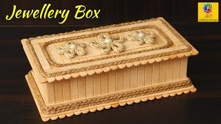 DIY Jewellery Box made from Jute Rope and Popsicle Sticks | Jute Jewellery Box | Popsicle Craft Idea