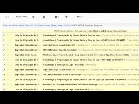Gmail - How to Select all Messages (2013)