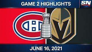 NHL Game Highlights   Canadiens vs. Golden Knights, Game 2 – Jun. 16, 2021