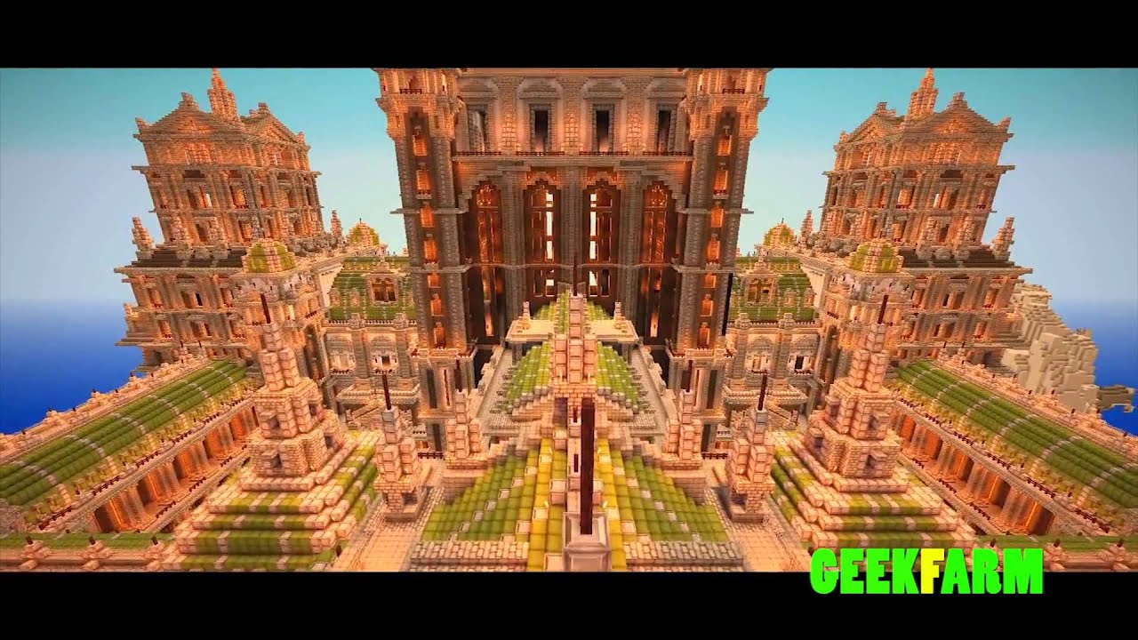 Les plus belles constructions minecraft imperial city - La plus grand maison du monde ...