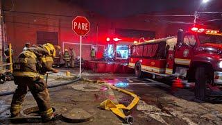 Impactantes imágenes de incendio registrado en Cali.