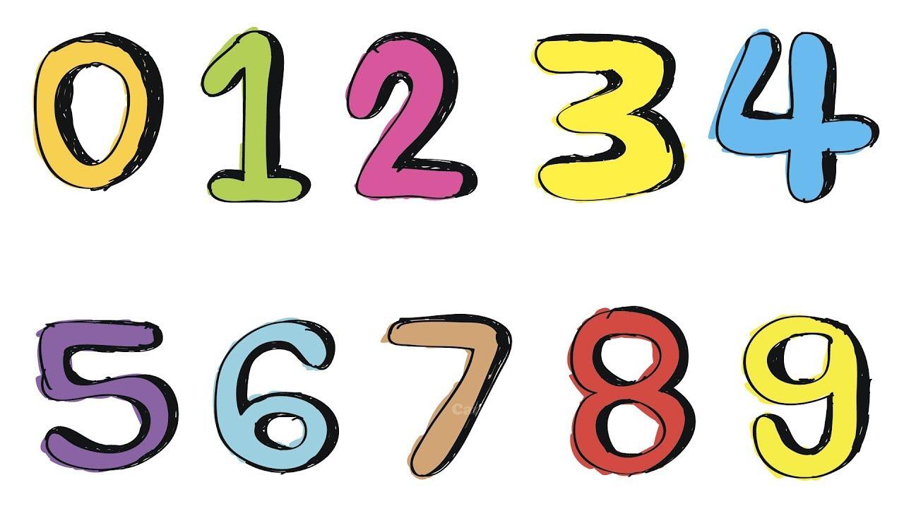 Ряд цифр картинки для детей