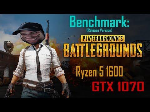 PUBG Benchmark (Release version) | Ryzen 5 1600 & GTX 1070