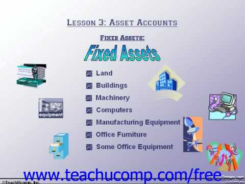 Accounting Tutorial Fixed Assets Training Lesson 37  YouTube