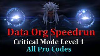 Kingdom Hearts III - LV1 Crit Data Org Speedrun w/All Pro Codes (2:37:34)