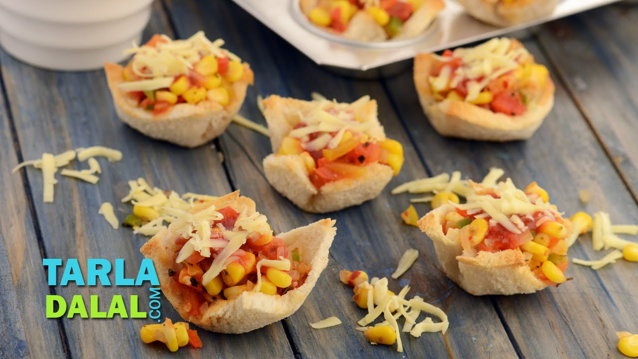 Mexican bread tartlets by tarla dalal youtube mexican bread tartlets by tarla dalal forumfinder Images