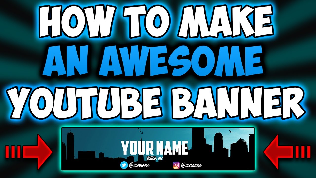 how to make a youtube banner for freeno photoshop youtube