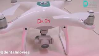 Drone in dental clinic /Dr.ONE/Dr.ON/