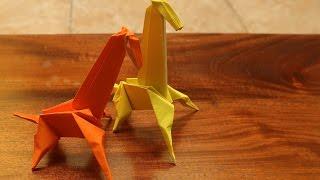 Step by step cara melipat origami bentuk Jerapah 3D
