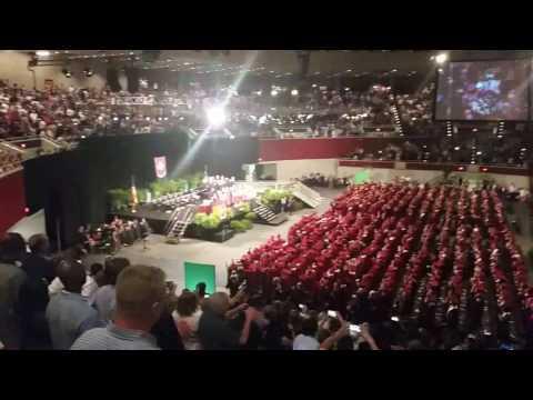 Plano Senior High School 2016 Graduation Song and Cap Toss