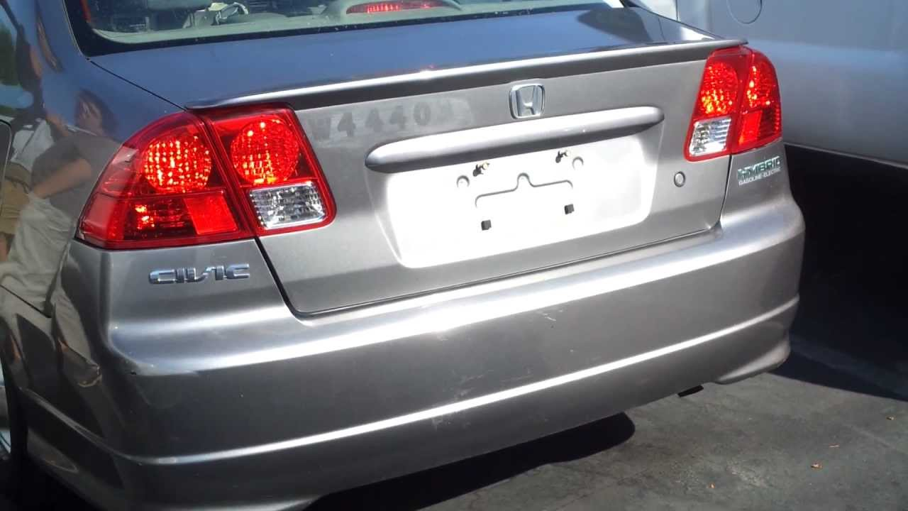 2005 Honda Civic Hybrid Custom Exhaust   YouTube