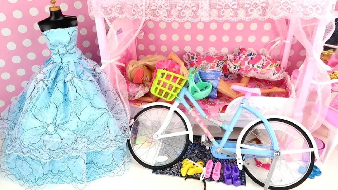 Baby Barbie Doll Ride on New Cross Bike Mini Power Wheel Pocket Bike Hide and Seek Toys