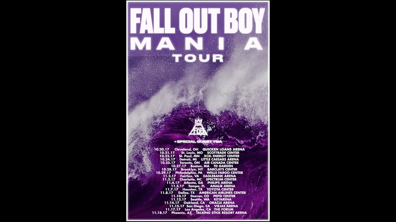 Fall Out Boy Tour Song List