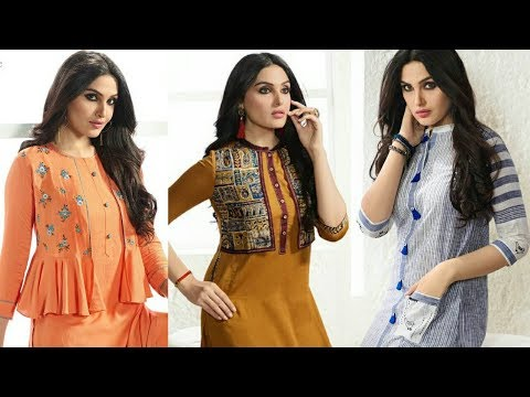 designer-jacket-style-kurtis|fancy-embroidered-long-double-layer-kurti-for-women's-|trendy-india