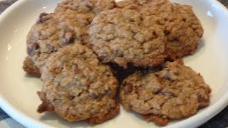 Chocolate Caramel Coconut Oatmeal Cookies