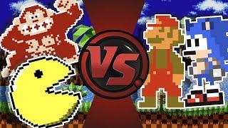 OP DONKEY KONG, MARIO, SONIC, PAC-MAN vs Cops! Super Mario Bros Sprite Animation